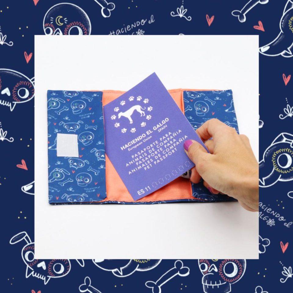 Portadocumentos – Haciendo el galgo – Semitransparente – Azul
